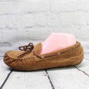 UGG Lined Moccasins Brown Slip On Shoes Size 6